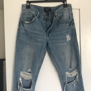 Forever 21 Men's distressed Yeezy style jeans